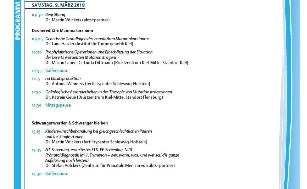Förde Symposium Programm FÖRDE.SYMPOSIUM Förde Symposium abts+partner Gynäkologie Kongress Neumünster